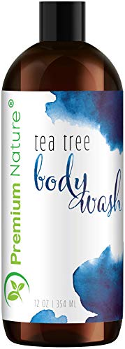 Tea Tree Body Wash Antibacterial - Antifungal Bodywash Tee Tree Essential Oil Soap Cleanser All Natural 100% Pure Shower Gel - Jock Itch Defense Acne Athletes Foot Odor Eczema Ringworm Treatment