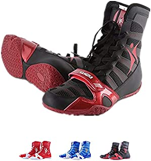 Tall Boxing Shoes,Wrestling Boxing Shoes Boxing Boot for Men Women Adult Teenager (9.5, Black)