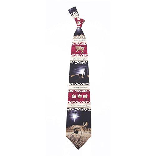 Eagles Wings Herren Krawatte mit Weihnachtsmotiven - Let Us Adore Him