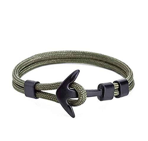 Lsv-8 - Pulsera de Cuerda de poliéster para Hombre y Mujer, diseño de Ancla Pirata