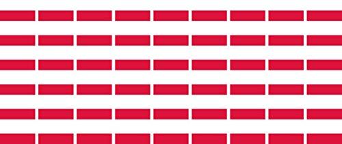 Mini Aufkleber Set - Pack glatt - 20x12mm - Sticker - Polen - Flagge - Banner - Standarte fürs Auto, Büro, zu Hause & die Schule - 54 Stück