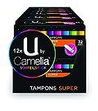U by Camelia Tamponi Super, pacco da 12 (12 X 32 pezzi)