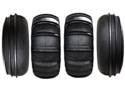 GMZ - Sand Stipper Set of 4 Tires (2) 28x12-14 Front tires & (2) 28x15-14 HP 14 paddle Rear tires for Turbo or Non Turbo cars - Tires only