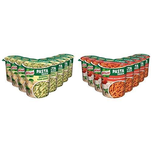 Knorr Pasta Snack Brokkoli-Käse-Sauce, 8 x 69 g + Knorr Pasta Snack Tomaten-Mozzarella-Sauce, 8 x 72 g