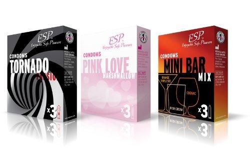 ESP Bestseller-Mix - 3 Sorten Spezial-Kondome zum Vorteilspreis - Probierset!