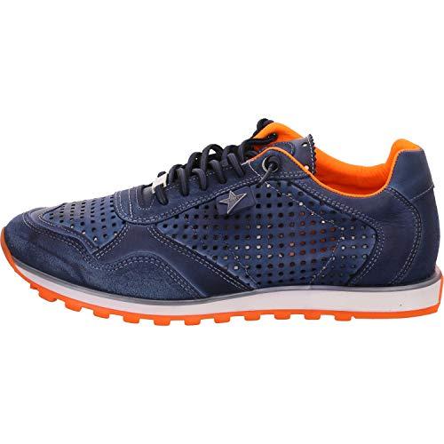 Cetti C-848-V20 - Herren Schuhe Sneaker - nat-t-w-Navy-orange, Größe:41 EU