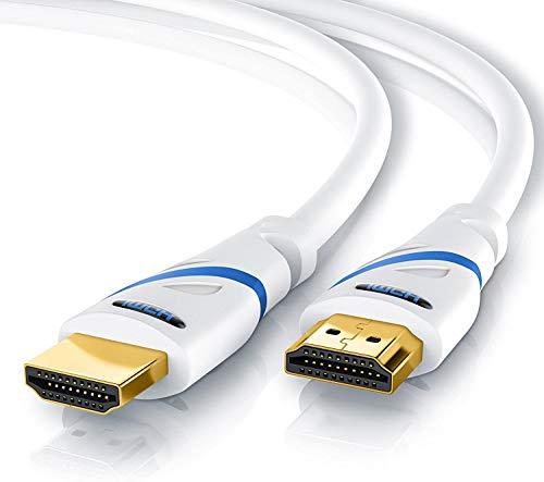 Primewire - 25 cm - Cavo HDMI 4k HDR 60Hz 2.0a b - 3D - Arc - CEC - HDCP - Ultimo Standard - Contatti Dorati - Triplice Protezione- Antipiega - Elevata Larghezza di Banda Fino a 18 Gbit s - Bianco