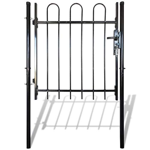 Single Door hek Gate met Hoop Top - Tuin Mesh Gate met 3 sleutels - Zijpoorten hek deur muur grille zwart voor residentiële, Tuin, Yard 100cm / 150cm