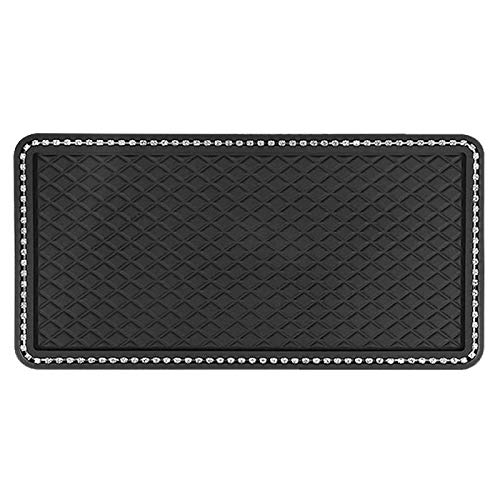 Anti-Slip Cell Phone Pad Sticky Dashboard Mat Non Slip Gel Pad Sticky Car Dashboard Mat Premium Anti-Slip Gel, Non-Slip mat for Cell Phone, Sunglasses, Keys,Electronic Devices and More-X-Large-Black