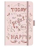 Premium Timer Small Rose Gold Typo Art - Kalender 2020 - Korsch-Verlag - Taschenkalender A6 mit Stifthalter, Lesebändchen und Zetteltasche - eine Woche auf 2 Seiten - Buchkalender 9 cm x 14 cm