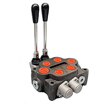 Hydraulic Valve 2 Spool Hydraulic Directional Control Valve 25 GPM Hydraulic Control Valve Double Acting Hydraulic Valve for Tractors Loaders Tanks,3000 psi from NICCOO