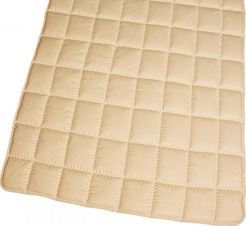 Matratzenauflage Modicana 90 x 200 Auflage aus 100% Schurwolle 650g/m² - Bezug Makotrikot/Baumwollperkal - Hochwertiges Unterbett für erholsamen Schlaf