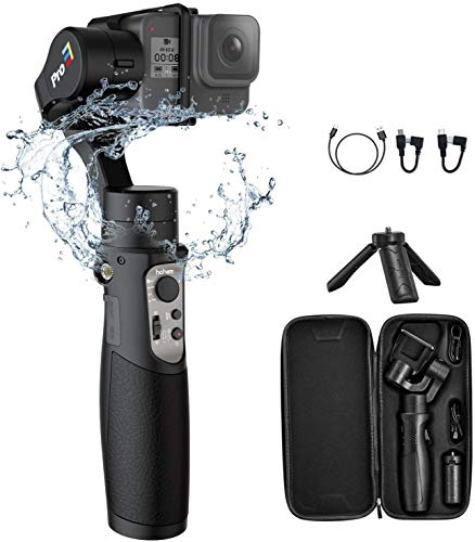 Hohem iSteady Pro 3 3-Axis Gimbal Stabilizer for Gopro 8/7/6/5/4, for Osmo Action and Other Action Cameras - Support WiFi & Cable Control ,IPX4Splash Proof(2020 New Version)