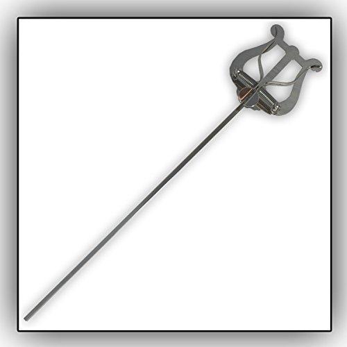 Soundman® Marschgabel für Bariton Tenorhorn Euphonium Tuba div. Blechblasinstrumente Lyra Lyre Notenhalter langer Stiel Universal (Gold/Vernickelt) (Vernickelt)