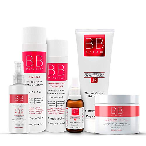 BB HAIR AND BODY SET (6 PCS: SHAMPOO 10.14 oz + CONDITIONER 8.45 oz +OIL 1.01 oz + HAIR MASK 8.82 oz + LEAVE-IN CONDITIONER/HEAT PROTECTANT 3.4 oz +1 HAIR MASK INTENSIVE REPAIR 8.82 oz) - VEGAN