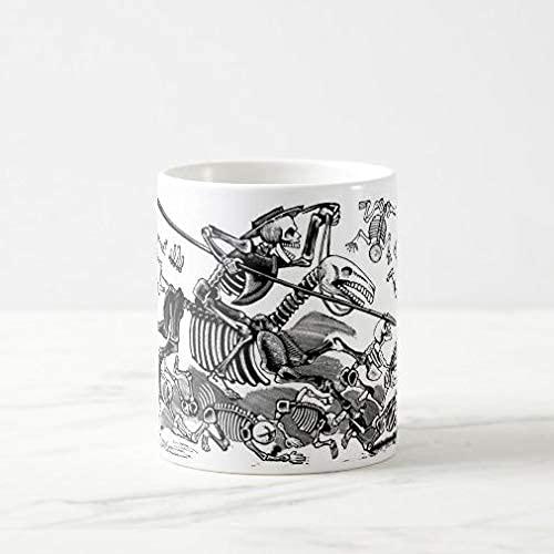 N\A Taza de café de Navidad, Calavera de Don Quijote' Alrededor de principios de 1900 Taza de café, Novedad Taza de café de Oficina de 11 oz