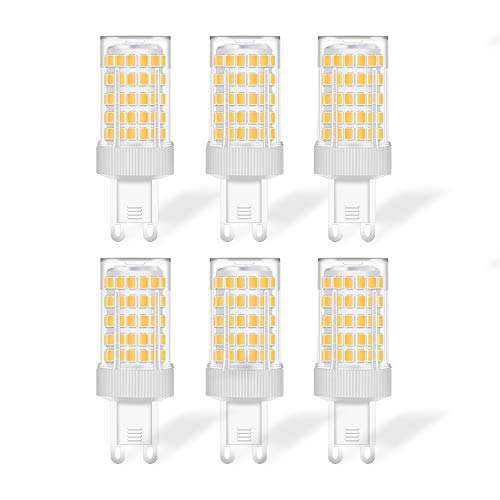 Eofiti G9 LED Blanco Fría, 10W Bombilla LED G9 6000K Equivalente a Halogeno 80W Spot Luz G9 900LM Bajo Consumo 230V lámpara G9 Haz de Ángulo 360 ° No Regulable Pack de 6