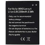Batería Solo Apta para WIKO Lenny 4 3913, Lenny 4 Plus, Harry Li-Ion, 3,8 V, 2500 mAh, 9,5 WH,...