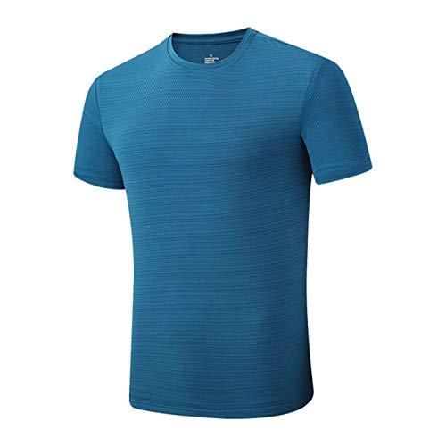 pour des Hommes Gym T-Shirt D'entraînement Dessus à Séchage Rapide Respirant Manches Courtes Wicking Fitness Soie De Glace Col Rond T-Shirt De Course Été T-Shirt De Sport,A,5XL