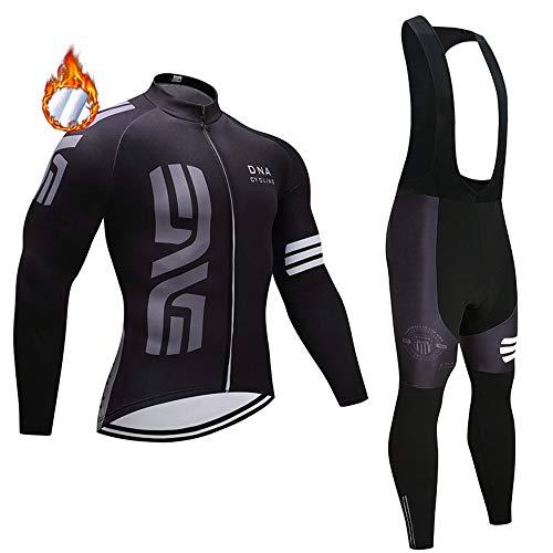 CHHBS MTB PRO Team Manica Lunga Bicicletta Maglia Inverno,5D Gel Pad Magliette Abbigliamento Ciclismo Uomo