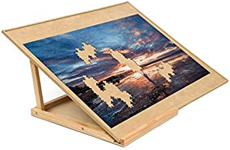 Becko Puzzle Board & Bracket Set/Wooden Puzzle Board Kit/Jigsaw Puzzle Plateau - with Puzzle Board for Up to 1000 Pieces