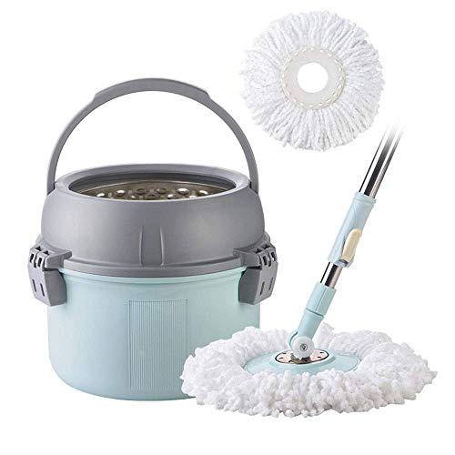 Microfibra Spin Mop Spin Mop Bucket Kit Fregona giratoria exprimidora de 360 grados Trapeador giratorio con mango extendido for limpieza de pisos Rotación Fácil de usar y almacenar for la cocina Lav