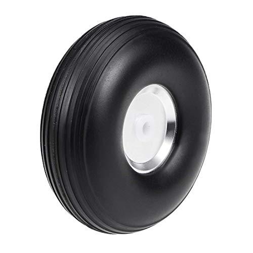 Juego de neumáticos y ruedas para avión de coche RC, esponja de poliuretano con buje de aleación de aluminio, 2,5 pulgadas