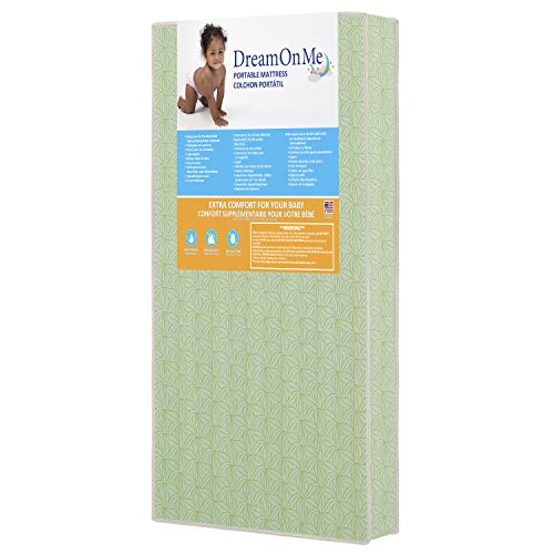 "Dream On Me 3"" Double Sided Play Yard Foam Mattress, Crib (34)"