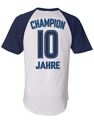 Geburtstags Shirt: Champion 10 Jahre - Sport Fussball Trikot Junge T-Shirt für Jungen - Geschenk-Idee zum 10. Geburtstag - Zehn-TER Jahrgang 2011 - Fußball Club Fan Stadion Mannschaft (146)