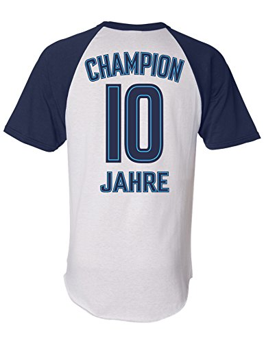 Geburtstags Shirt: Champion 10 Jahre - Sport Fussball Trikot Junge T-Shirt für Jungen - Geschenk-Idee zum 10. Geburtstag - Zehn-TER Jahrgang 2010 - Fußball Club Fan Stadion Mannschaft (128)