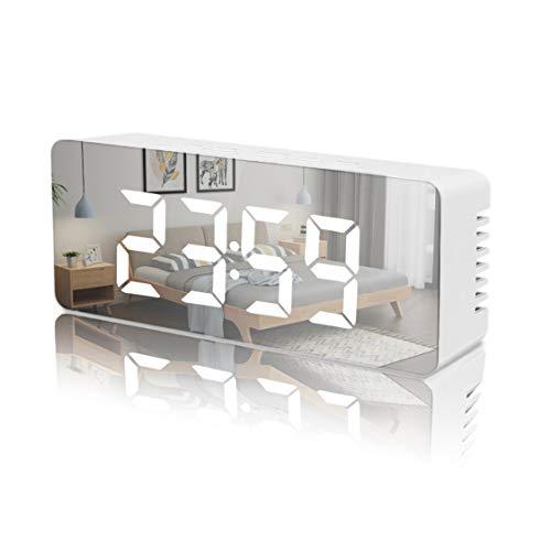 iPer LED Wecker Digital Wecker Alarmwecker Temperaturanzeige Zwei Helligkeitsstufen Schlummerfunktion LED Anzeige immerhell Einfach zu bedienenender Einstellbare Helligkeit [USB an/aus schluss]