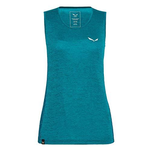 Salewa PUEZ Graphic Dry W Tank Femme, Feldspar Green Mel, FR : XL (Taille Fabricant : 48/42)