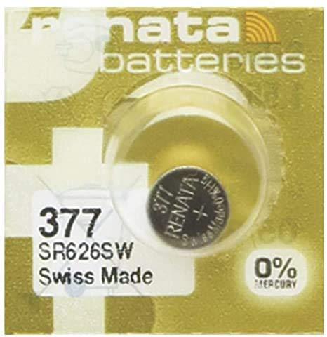 Horlogebatterij Renata MP-E 377 SR626SW, 60% krachtiger, 1 batterij Swiss