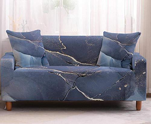 Funda de sofá de 4 Plazas Funda Elástica para Sofá Poliéster Suave Sofá Funda sofá Antideslizante Protector Cubierta de Muebles Elástica Patrón de mármol púrpura Funda de sofá