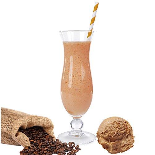 Eiskaffee Geschmack Eiweißpulver Milch Proteinpulver Whey Protein Eiweiß L-Carnitin angereichert Eiweißkonzentrat für Proteinshakes Eiweißshakes Aspartamfrei (200 g)