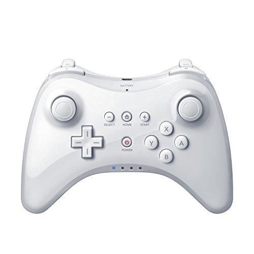 QUMOX Contrôleur sans Fil Gamepad Joypad Manette pour Nintendo Wii U Pro, Blanc