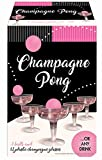 Champagne Prosecco Pong Luxury Kit – Alternative to Beer Pong Game Set – for Birthday, Bachelor, Bachelorette, New Years, Celebration, Party Gift - 12 Plastic Cups and 3 Pink Balls