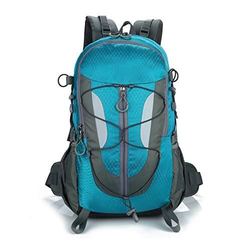 Mochila Ligera 30L, Resistente Al Agua Senderismo Mochila Plegable, Unisex Mochila Práctica Duradera para Viajes Acampar Ciclismo Deportes Al Aire Libre (Blue)