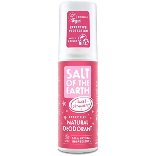 Salt of the Earth Rock Chick Sweet Strawberry Natural Deodorant Spray for Girls