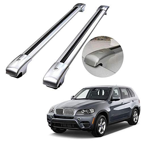 MotorFansClub Roof Rack Crossbar Fit for Compatible with BMW X5 2007-2013,Roof Rail Luggage Cargo Rack Cross Bars Aluminum Alloy
