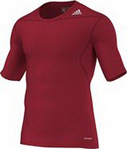 Adidas Tech Fit Base - Maglietta da fitness, Uomo, D82089, Rosso (Power Red), XL