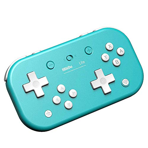 QUMOX 8BitDo Lite Bluetooth Gamepad für Switch Lite/Switch/Steam/Raspberry pi (Turquoise)
