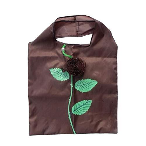 Linkay Neuer HeißEr Verkauf Mode Wild Damen Simulierte Blume Tasche Wasserdichte Einkaufstasche Handtasche Reisetasche Groß UmhäNgetasche Rucksack-Kaffee