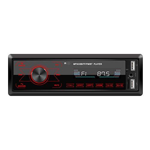 Clenp Reproductor De MP3 Bluetooth para Automóvil, Estéreo para Automóvil Bluetooth 1 DIN En Tablero AUX-in Radio FM Reproductor De MP3 para Llamadas Manos Libres