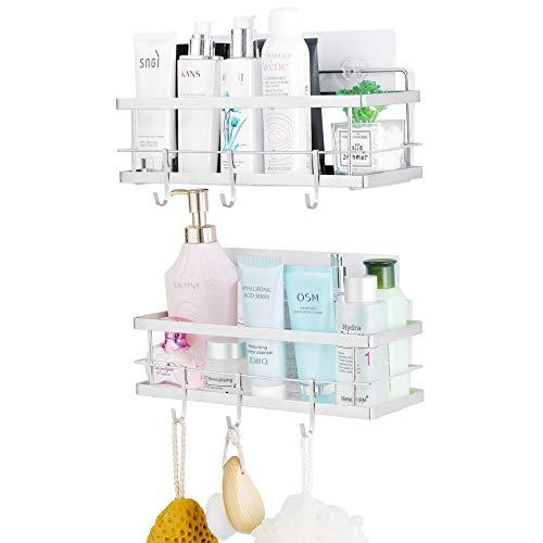 ARNTY Estantes Cesta para Ducha Baño 2 Pieza, Estanteria Ducha Adhesivos Organizador,Estante Ducha Baño (Estante de Ducha A)