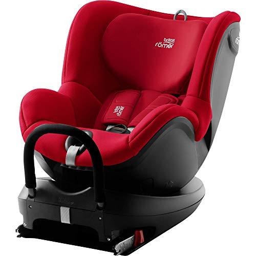 BRITAX RÖMER silla de coche DUALFIX2 R, Giratoria a 360 ° y con fijación ISOFIX, niño de 0 a 18 kg (Grupo 0+/1) desde el nacimiento hasta los 4 años, Fire Red