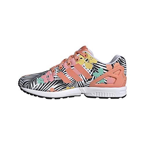 adidas Originals Kids Unisex ZX Flux, Chalk Coral/Chalk Coral/White, 4 EU