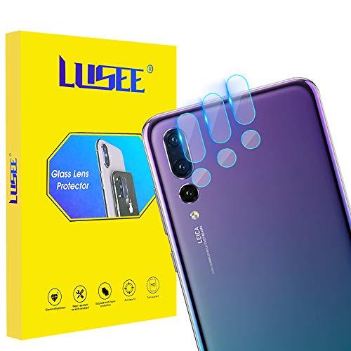 Lusee 3 Piezas Cristal Templado Lente Cámara para Huawei P20 Pro 6.1 Alta Definición Ultra Clara 2.5D Protector Cámara Trasera Lente Película de Pantalla