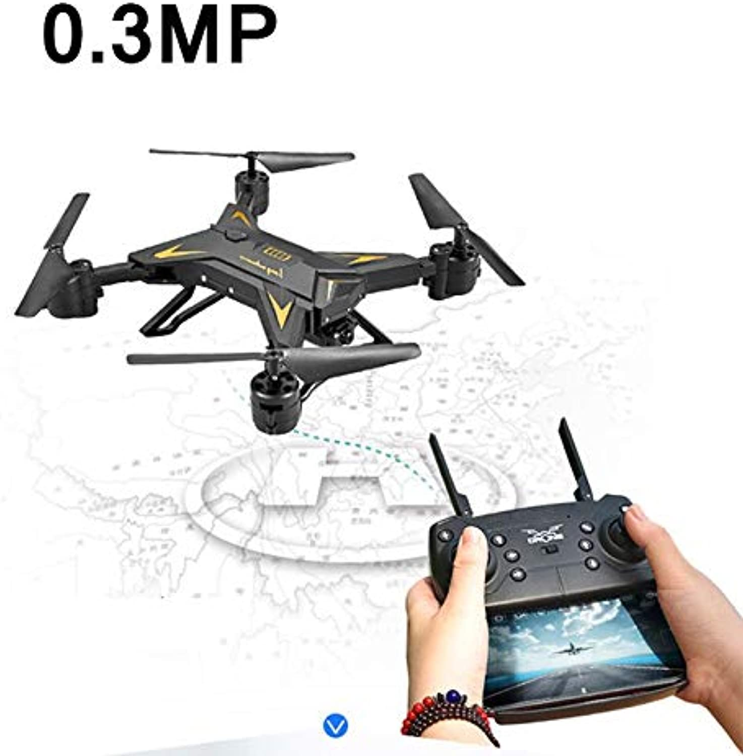Generic RC Helicopter Drone with Camera HD 1080P WiFi FPV Selfie Drone Professional Foldable Quadcopter 20 Minutes Battery Life Black