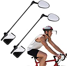 Accmor 2 Pack Bike Helmet Mirror, 360 Degree Adjustable Lightweight Bicycle Cycling Rear View Helmet Mirror for Cycling, Cycling Accessories
